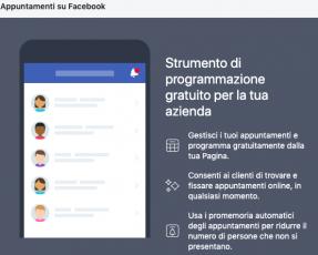 Facebook e lo strumento di prenotazione (gratuito) per psicologi