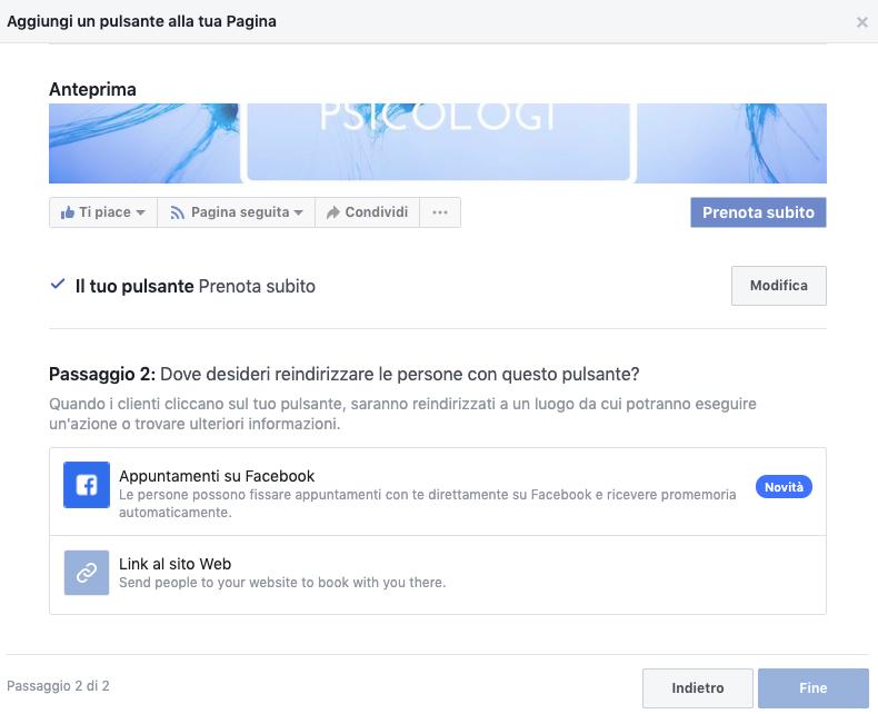 Lo strumento di prenotazione (gratuito) per psicologi su Facebook